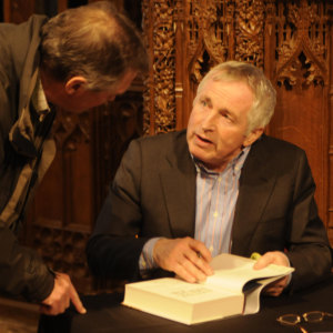 Pix Show: Jonathan Dimbleby writer, broadcaster and film maker at Chagword the Dartmoor Literary Festival in Chagford Devon  PIX (C) STUART CLARKE. March 2013 Phone: 07831 206104