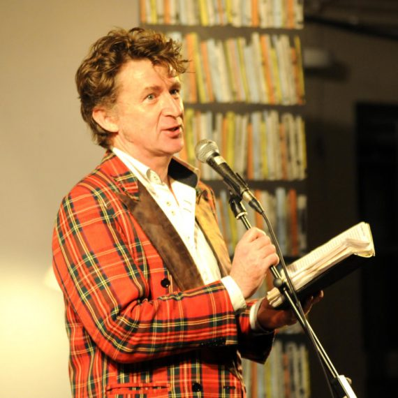 Pix Show: Elvis McGonagall Poet and Comic at Chagword the Dartmoor Literary Festival in Chagford Devon.  PIX (C) STUART CLARKE. March 2013 Phone: 07831 206104