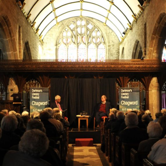 Pix Show: Chris Mullin diarist and former Labour MP talking at St Michael's Church at Chagword the Dartmoor Literary Festival in Chagford Devon  PIX (C) STUART CLARKE. March 2013 Phone: 07831 206104
